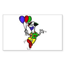 funny clown Sticker (Rectangle)