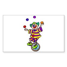 funny clown Sticker (Rectangle 10 pk)