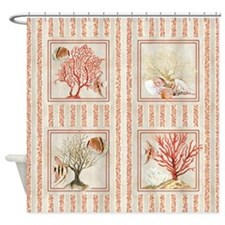 Fan Coral Ocean Beach Tropical Fish Shower Curtain
