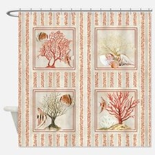 Fan Coral Ocean Beach Tropical Fish Shower Curtain