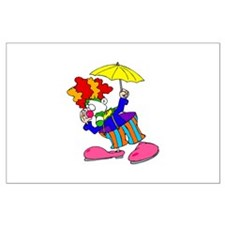 funny clown Large Poster