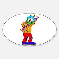 funny clown Sticker (Oval)