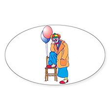 goofy clown Sticker (Oval)