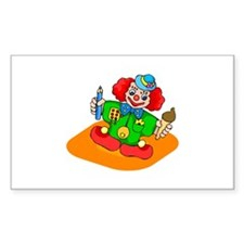 clowning around Sticker (Rectangle 50 pk)