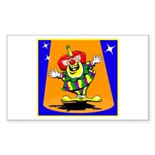 clowning around Sticker (Rectangle 10 pk)