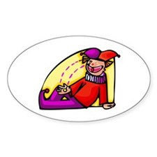 clowning around Sticker (Oval)