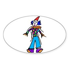 clowning around Sticker (Oval 10 pk)