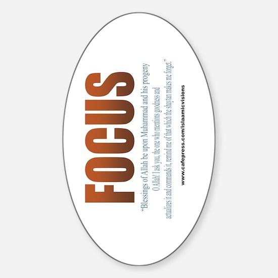 Focus (Oval Sticker) Bookmark