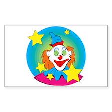 cute clown Sticker (Rectangle)