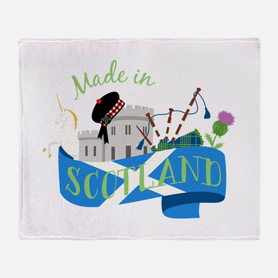 Made In Scotland Throw Blanket