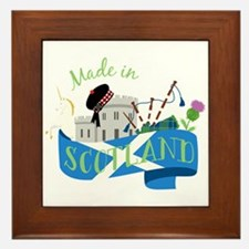 Made In Scotland Framed Tile