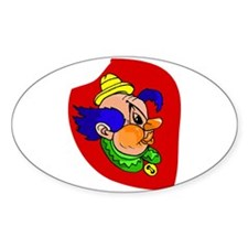 clown Sticker (Oval)