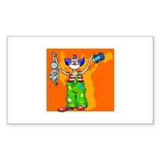 clown Sticker (Rectangle 50 pk)