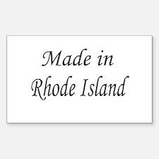 Rhode Island Rectangle Decal