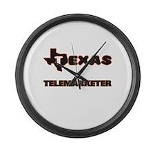 Texas Telemarketer Large Wall Clock