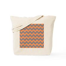 Tangerine and Titanium Chevron Tote Bag