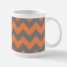 Tangerine and Titanium Chevron Mugs