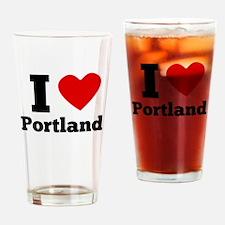 I Heart Portland Drinking Glass
