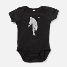 Vintage Baseball Pitcher Baby Bodysuit