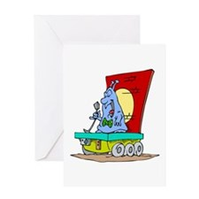 Giant alien tiny rover Greeting Card