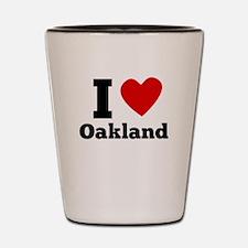 I Heart Oakland Shot Glass