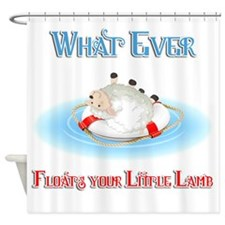 What Ever Floats Your Little Lamb Shower Curtain