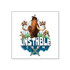 "Ice Age Unstable Square Sticker 3"" x 3"""