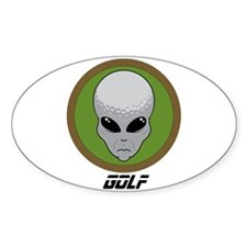Fishing head alien Sticker (Oval)