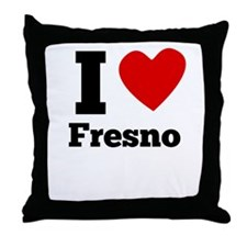 I Heart Fresno Throw Pillow