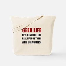 Geek Life Dragons Tote Bag