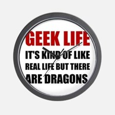 Geek Life Dragons Wall Clock
