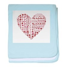 Running Heart baby blanket