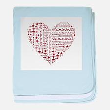 Running Heart baby blanket