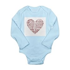 Running Heart Body Suit