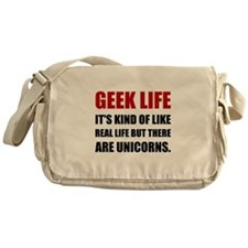 Geek Life Unicorns Messenger Bag