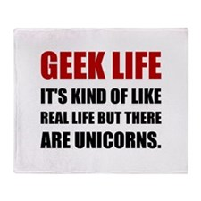 Geek Life Unicorns Throw Blanket