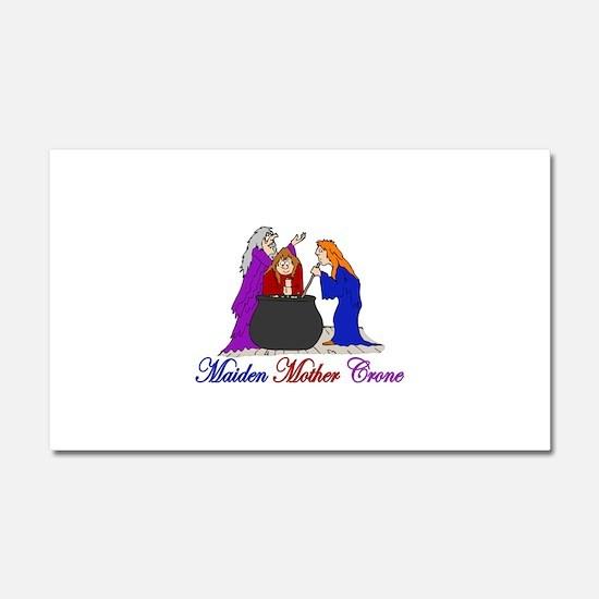 Maiden Mother Crone Car Magnet 20 x 12