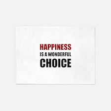 Happiness Wonderful Choice 5'x7'Area Rug