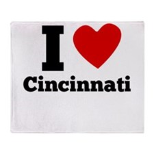 I Heart Cincinnati Throw Blanket