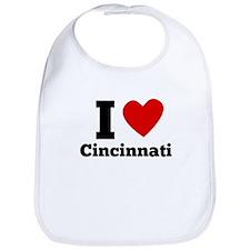 I Heart Cincinnati Bib