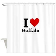 I Heart Buffalo Shower Curtain