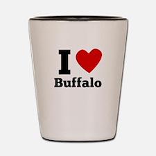 I Heart Buffalo Shot Glass