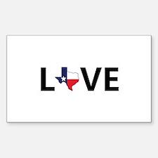 Love Texas Decal
