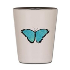 Blue Morpho Butterfly Shot Glass