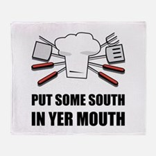 South In Yer Mouth Throw Blanket