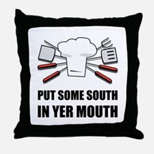 South In Yer Mouth Throw Pillow