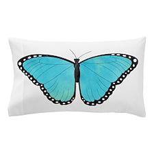 Blue Morpho Butterfly Pillow Case