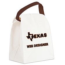 Texas Web Designer Canvas Lunch Bag