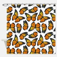 Monarch Butterfly Pattern Shower Curtain