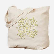 Gold Star Burst Tote Bag